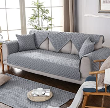 Superb Gianco Ferro Sectional Sofa Throw Covers Furniture Protector Multi Size Soft Quilted Couch Slipcover For Pets Kids Gray 36X63 Creativecarmelina Interior Chair Design Creativecarmelinacom