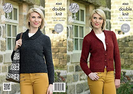 31f1c38848114 Image Unavailable. Image not available for. Colour  King Cole Ladies Double Knitting  Pattern Womens Sweater   Cardigan Panache DK ...