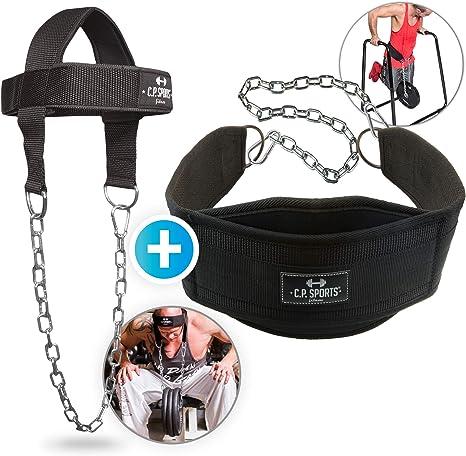C.P.Sports - Juego de cinturón de Entrenamiento para el Cuello y ...