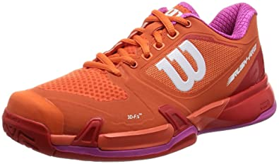 Wilson Women's Rush Pro 2.5 Nasturtium/Fiery Red/Rose Violet Athletic Shoe