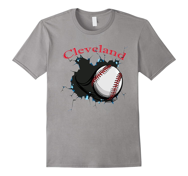 Distressed Cleveland no one likes us Tee Baseball T shirt Q-Art