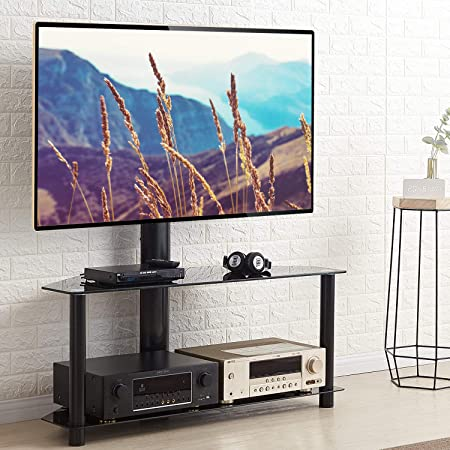 Rfiver Floor Tv Stands For 32 To 65 Inch Entertainment Amazon Co Uk Electronics