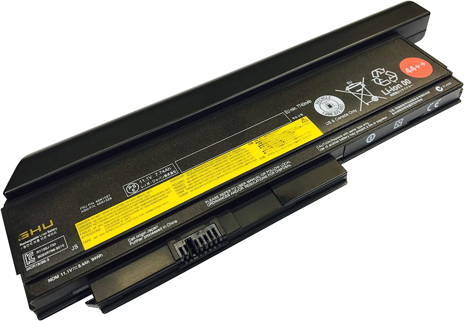New GHU Battery 44 9-Cell High Capacity Replacement for 0a36307 0A36282 0A36283 0A36283 0a36307 Compatible for Lenovo X220 X220 X220i X230 Notebook