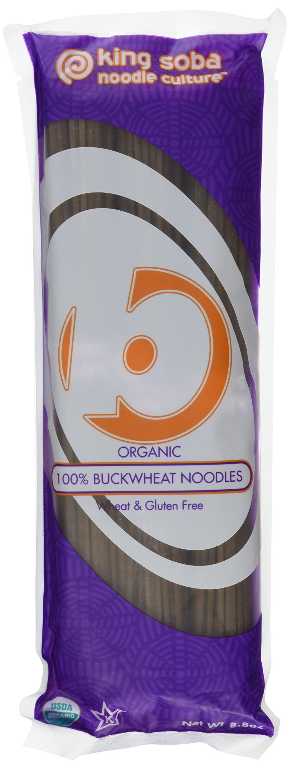 King Soba 3-PACK Gluten Free, Organic 100% Buckwheat Pasta Noodles - Sodium Free, 8.8oz - 3 servings per package