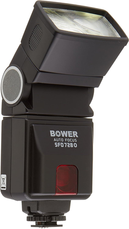 Panasonic DMC-G5//G6//G10//GH2//GF6//GX1 and Similar DSLRs Black Bower SFD728O Dedicated AF TTL Flash for Olympus//Panasonic E-620//E-520// E-PL5//E-PM2