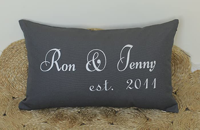 printed pillow cases. decorhouzz couple personalized pillow cover embroidered wedding anniversary customized cases throw slip covers printed