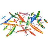 Big Mo's Toys 24 Pack 8 Inch Glider Planes - Birthday Party Favor Plane, Great Prize, Handout / Giveaway Glider, Flying Model