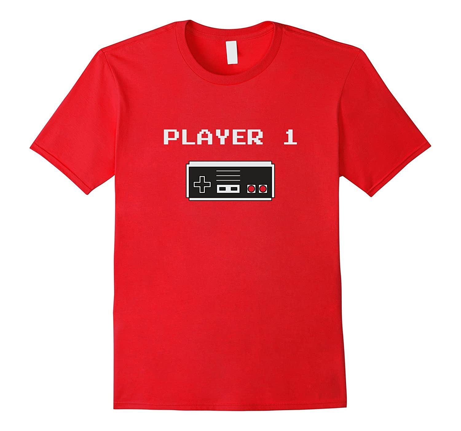 Player 1 buddy Retro style video game T-shirt (Old School)-FL