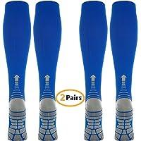 2 Pares Calcetines/Medias de Compresión para Hombres