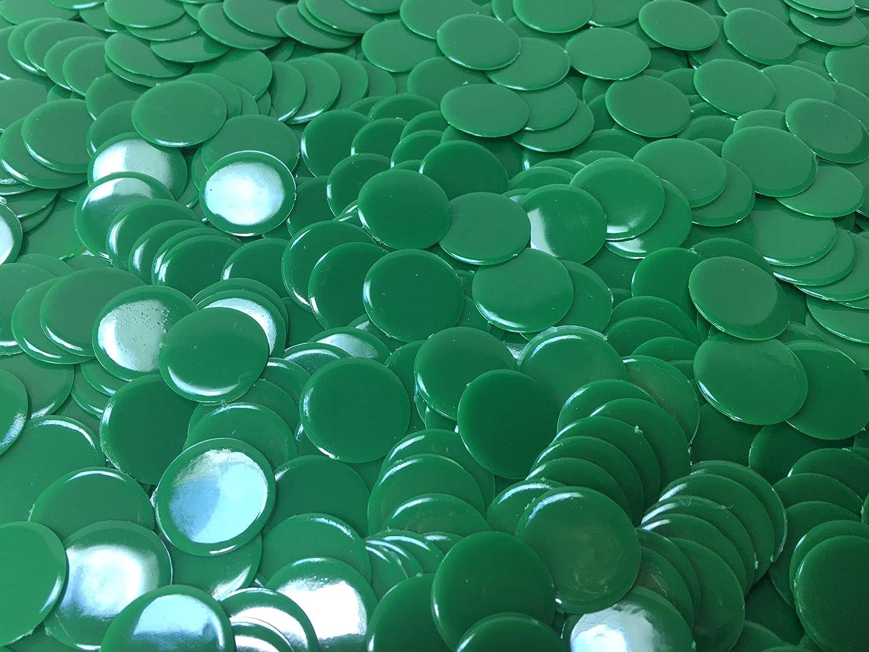 Solid Green Bingo Chips 100 Count 7//8 Inch