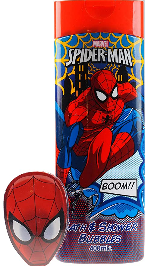 Marvel Spiderman de baño de burbujas y Magic ampliable franela/toalla para la cara