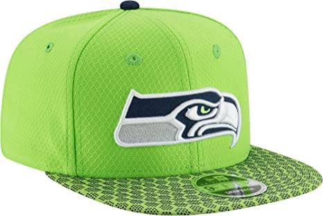 7c56df02 Image Unavailable. Image not available for. Color: New Era Men's Seattle  Seahawks Sideline 2017 On-Field 9Fifty Snapback Adjustable Hat ...