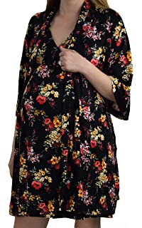 1c03868b03d Embrace Your Bump 2 in 1 Super Soft Maternity & Nursing Nightgown & Robe Set