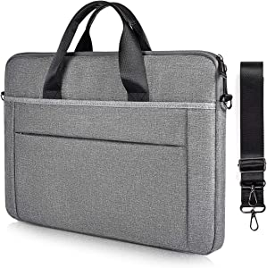 15.6 Inch Laptop Bag for Men Women, Computer Carrying Shoulder Case for Dell Inspiron 15 5000, Acer Chromebook 15/Aspire 5, Lenovo Thinkpad/IdeaPad 15.6,MSI Asus HP Samsung Case(Space Grey)