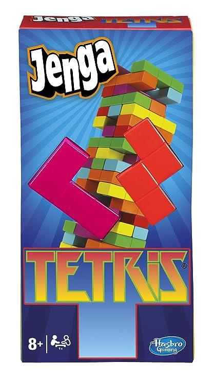 Amazoncom Hasbro Jenga Tetris Game Toys Games