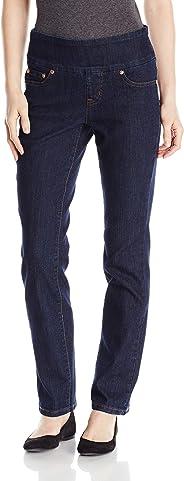 Jag Jeans Women's Petite Peri Straight in Comfort Denim Late Night