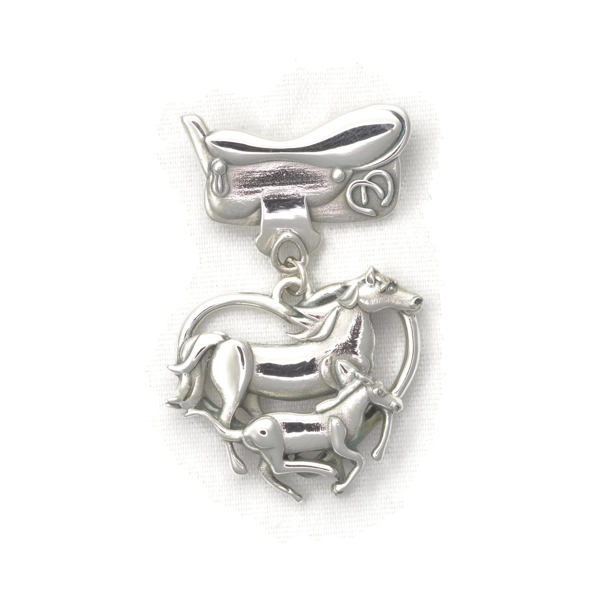 Sterling Silver Horse Pin - Horse Brooch by Donna Pizarro from her Animal Whimsey Collection of Fine Horse Jewelry