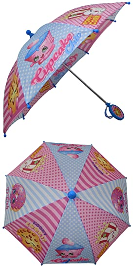 Shopkins Pink and Light Blue Girls Umbrella