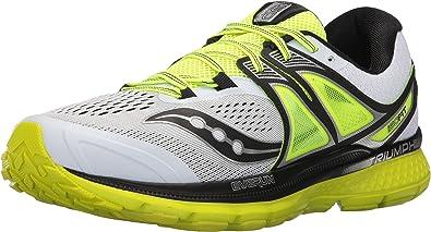 Saucony Triumph ISO 3, Zapatillas de Running para Hombre, Multicolore White Black Citron, 41 EU: Amazon.es: Zapatos y complementos
