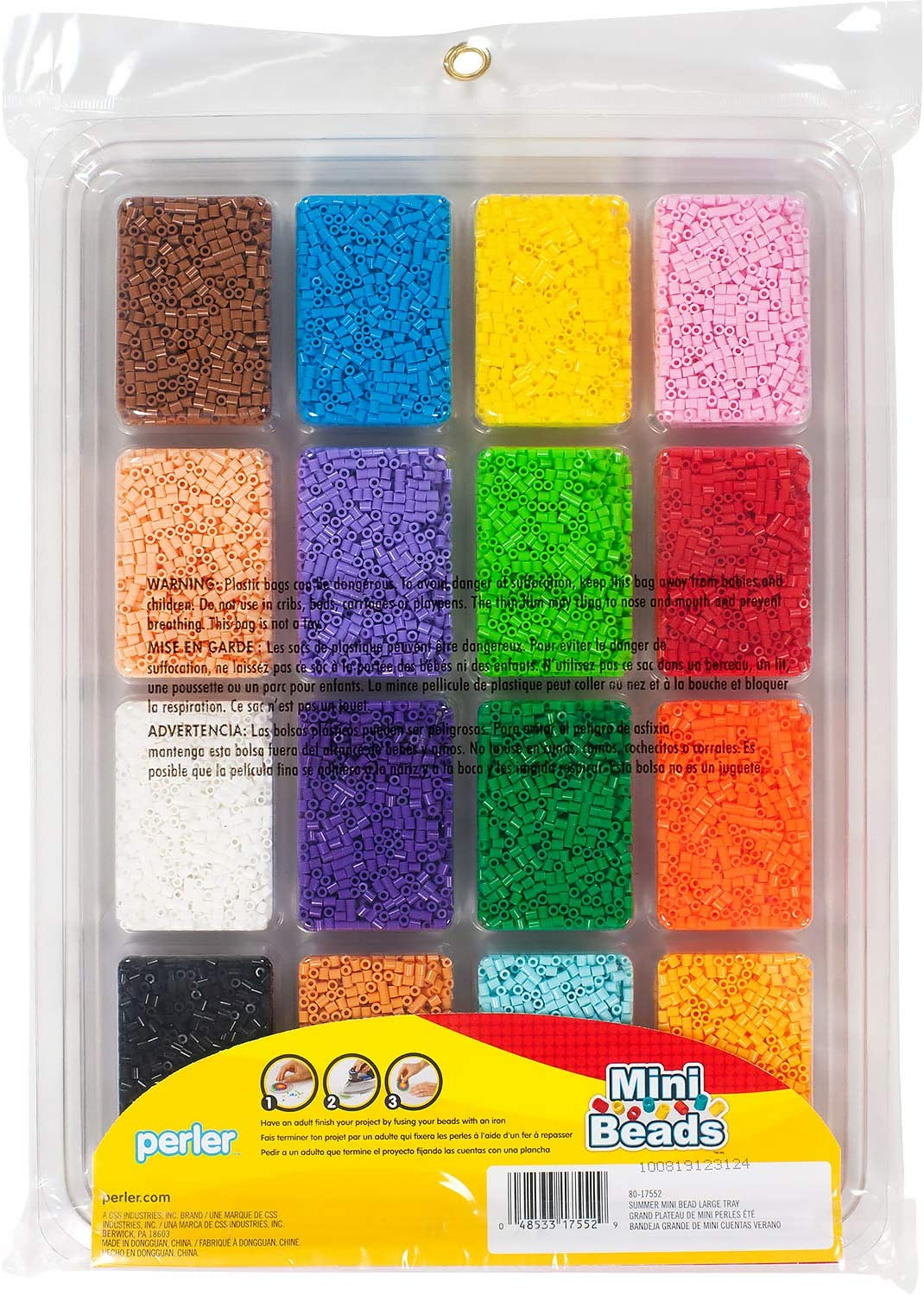 Perler 80-17552 Summer Colors Mini Beads Tray 16000pcs