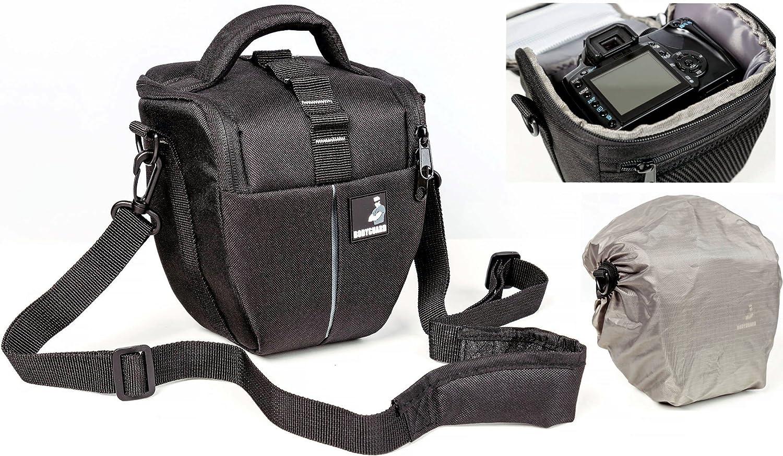 Bolsa de Funda BODYGUARD Colt M Bolso de cámara con Protector de Lluvia Pra Todas Las cámaras SLR con un Objetivo de hasta 18cm Tal como