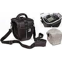 Sac étui Bodyguard Colt M Sacoche pour appareil photo avec housse de pluie pour tous les appareils photo SLR avec objectifs jusqu'à 18cm à l'exempe de Canon EOS 70D 77D 80D 200D 1300D 700D 750D 760D 77D 800D Nikon D3300 D3400 D5100 D5300 D5500