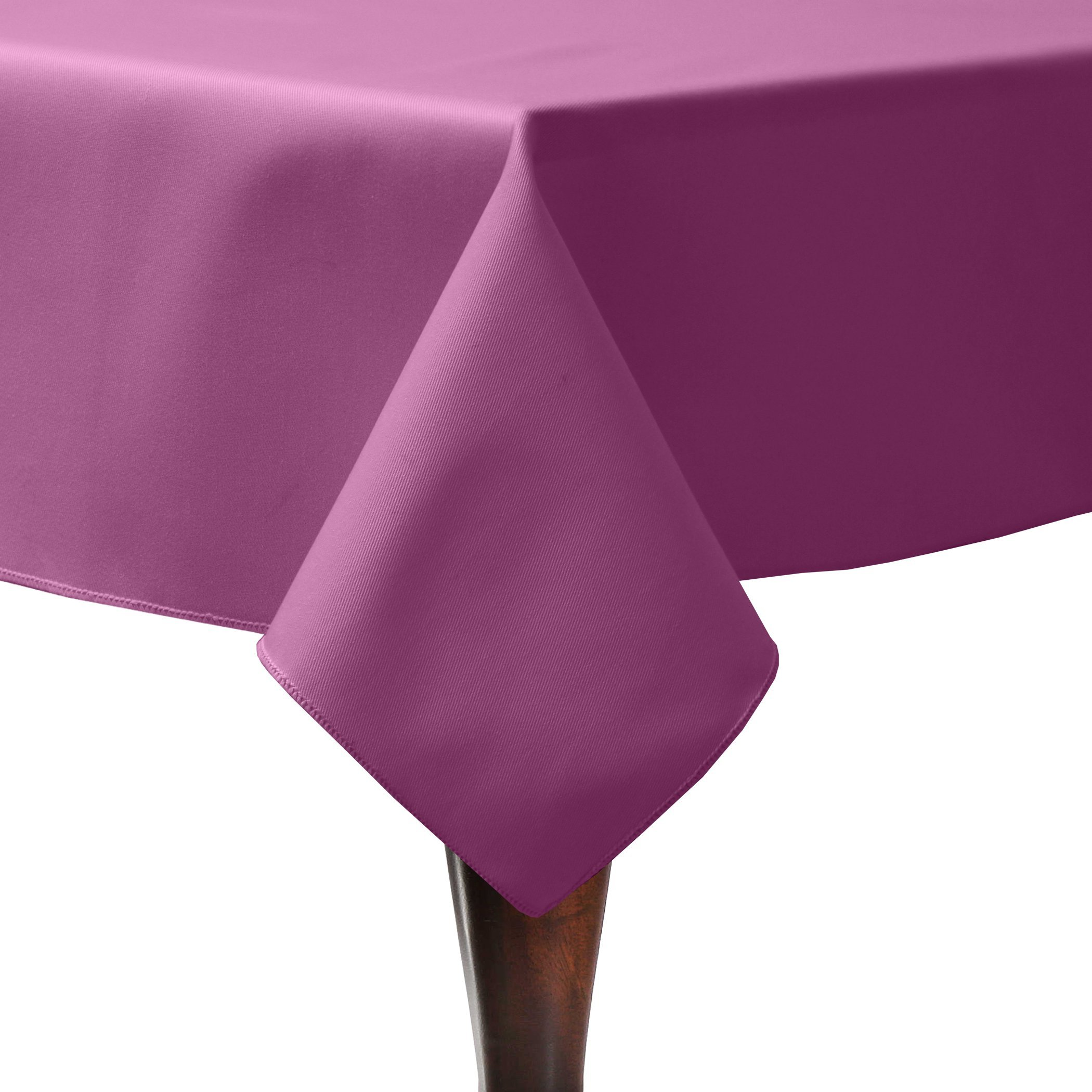 Ultimate Textile (75 Pack) Poly-cotton Twill 45 x 45-Inch Square Tablecloth - for Restaurant and Catering, Hotel or Home Dining use, Plumberry