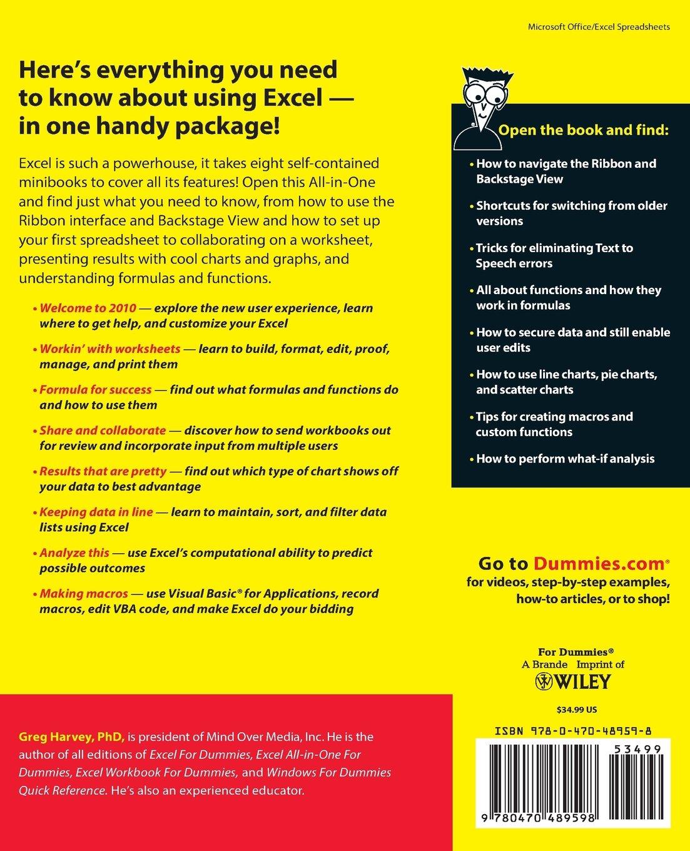 Quadratics Review Worksheet Excel  Allinone For Dummies Greg Harvey   Types Of Soil Worksheet with Section 11 3 Exploring Mendelian Genetics Worksheet Answers Pdf Excel  Allinone For Dummies Greg Harvey  Amazoncom  Books Math Worksheets Websites Pdf