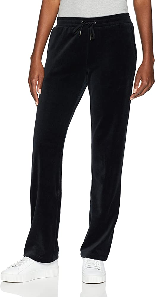 Starter Women's Velour Track Pants, Amazon Exclusive, Black, Extra Small