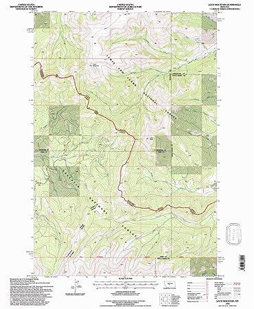 Amazon.com : YellowMaps Loco Mountain MT topo map, 1:24000 ... on
