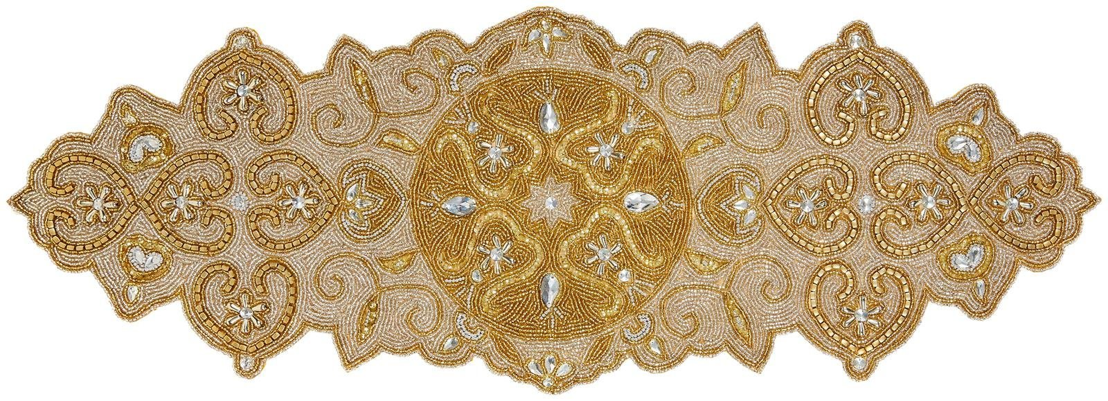 Two's Company Hand-Beaded Table Runner - 2 Designs