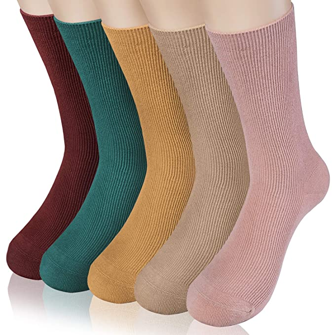 HBselect 5 Pares Calcetines Algodon Mujer Calcetines Mujer Invierno Calcetines Para Mujer: Amazon.es: Ropa y accesorios