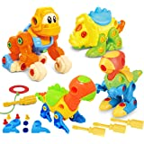Joyin Toy Dinosaur Toys Take Apart Toys (Pack of 4) - Construction Engineering Building Play Set