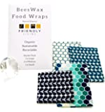 Beeswax Food Wraps Beeswax Wrap | Reusable Organic Plastic Free Eco Food Wraps by Friendly Living | Set of 4 Eco…