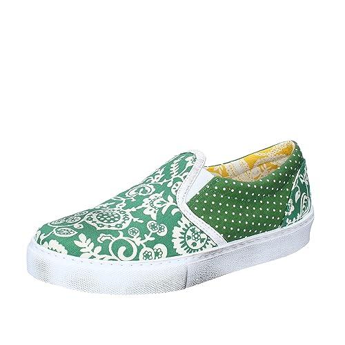 2 STAR - Mocasines de Tela para Hombre Verde Verde Verde Size: 40: Amazon.es: Zapatos y complementos