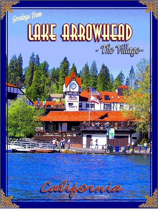Amazon.com: Lago punta de flecha el Anuncio Cartel de viaje ...