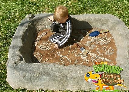 KIDWISE Digasaurus Activity Sandbox - Dinosaur Excavation Activity