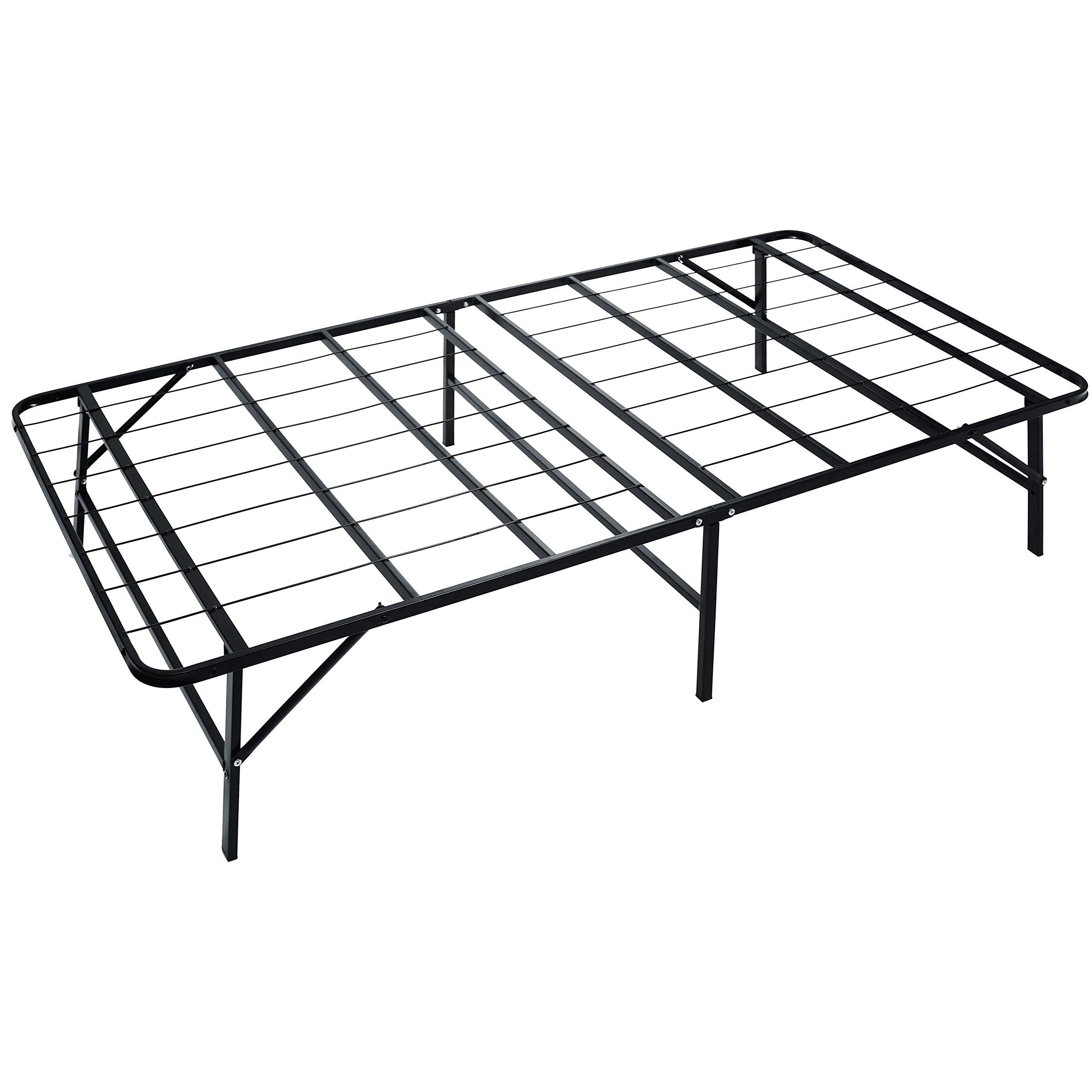 Naomi Home idealBase Heavy-Duty Noise-Free 14 Inch Platform Bed Twin XL/Black