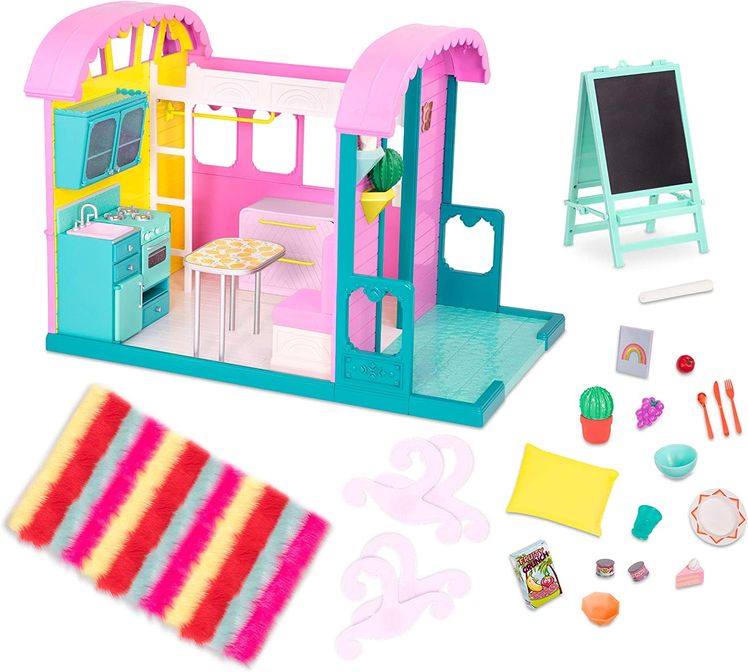 Glitter Girls Dolls by Battat – GG Doll House Playset with Furniture and Home Accessories – Kitchen, Oven, and Patio – 14-inch Doll Clothes and Accessories for Kids Ages 3 and Up