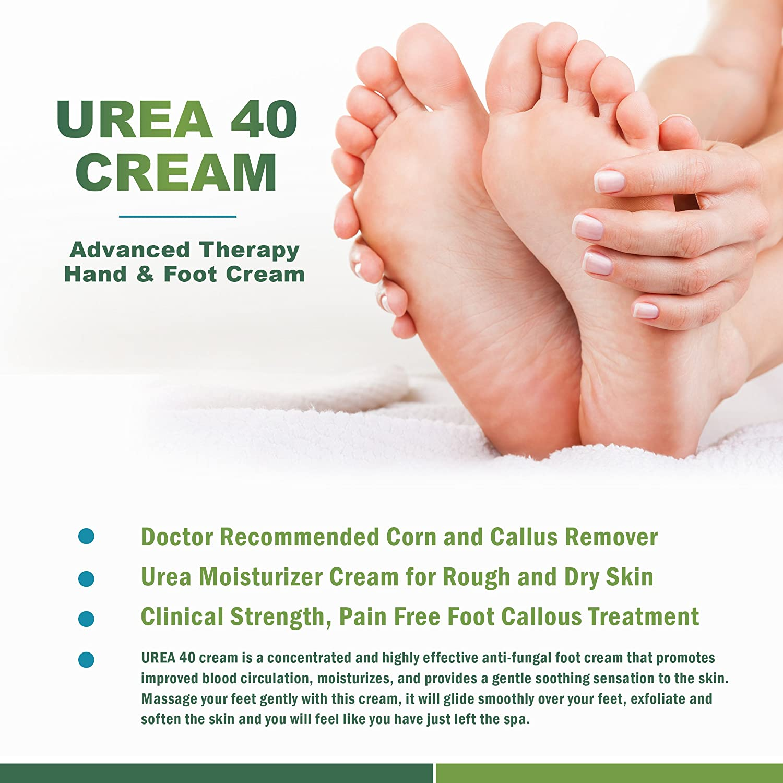 Amazon : Urea Cream 40  Corn And Callus Remover, Skin Exfoliator And  Urea Moisturizer Cream Gel, 4oz : Beauty