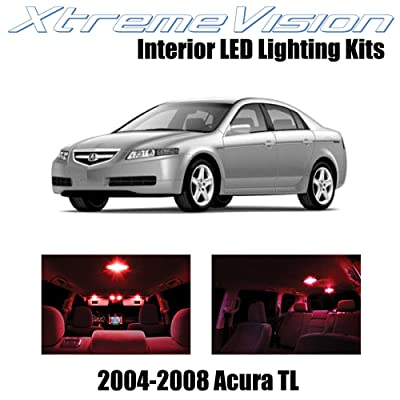 Xtremevision Interior LED for Acura TL 2004-2008 (14 Pieces) Red Interior LED Kit + Installation Tool: Automotive