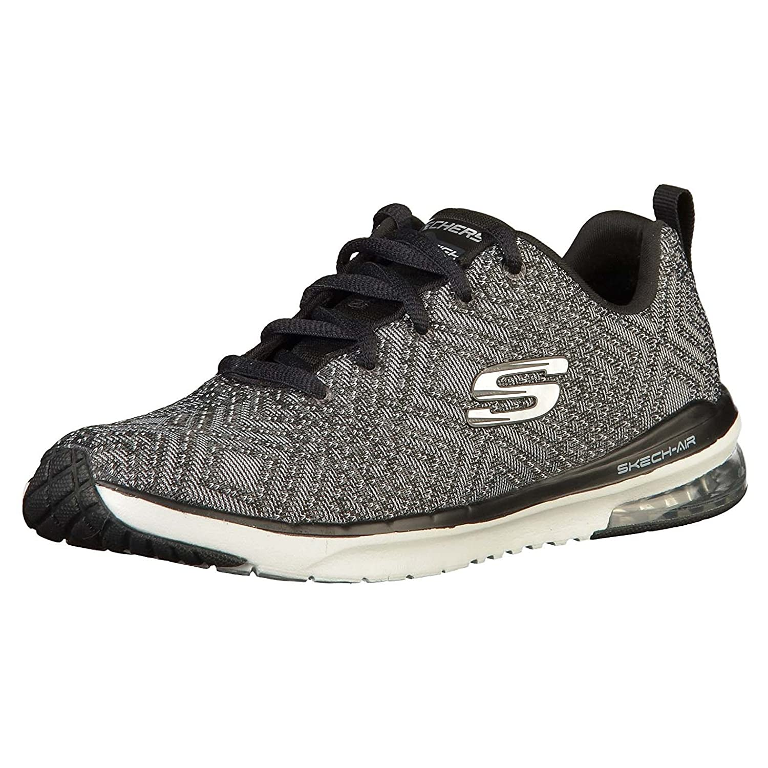 Skechers Skech-Air Infinity-All Aglow, Zapatillas para Mujer 37 EU|Negro (Black/White Bkw)