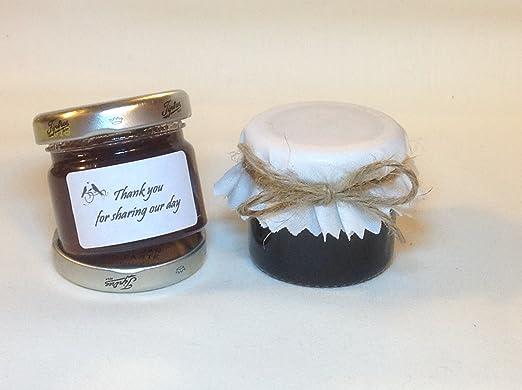 50 x Mini tarros de mermelada tarros de favor de la boda (encaja ...