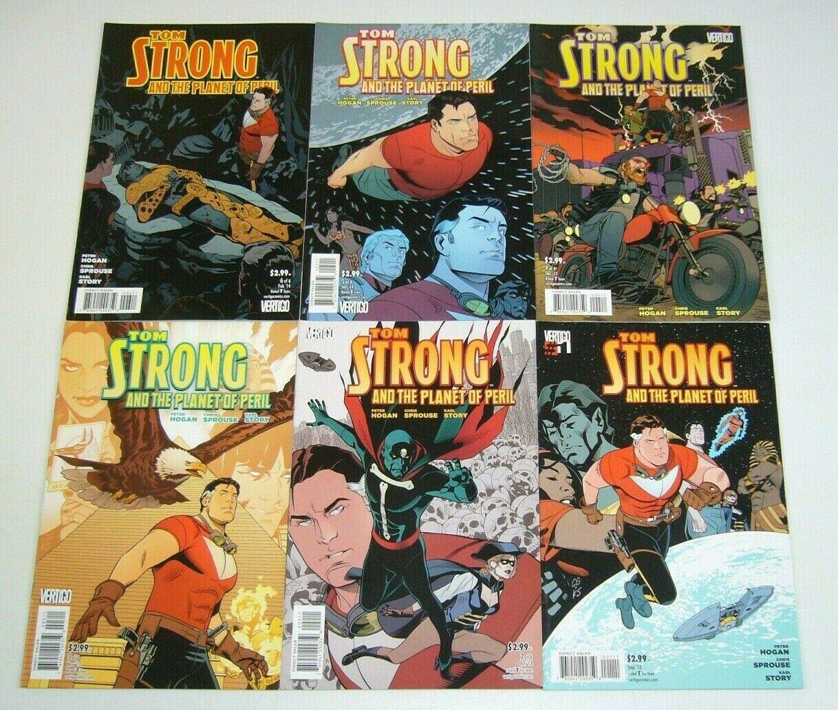 Tom Strong And The Planet Of Peril 1 6 Complete Series Chris Sprouse Peter Hogan Karl Story Amazon Com Books