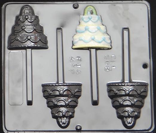 Bride /& Groom Pop Lollipop Chocolate Candy Mold Wedding  679 NEW