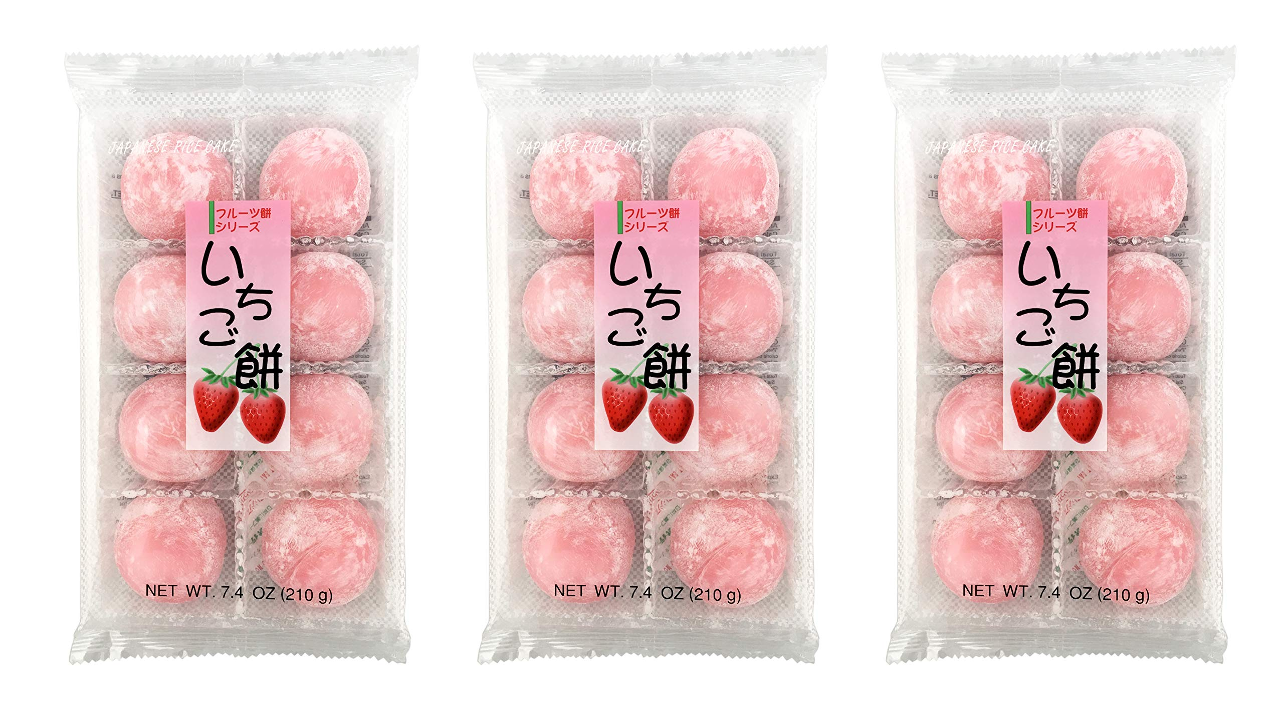 Fruits Mochi Daifuku Ichigo 7.4oz/210g (3pack) by Daifuku