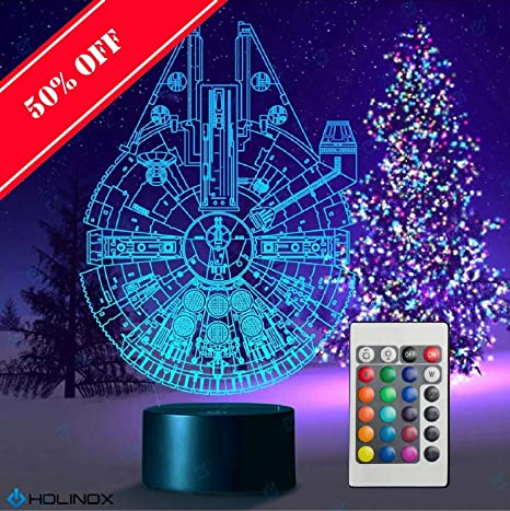 Amazon.com: Millennium Falcon Star Wars Lighting Gadget Lamp ...
