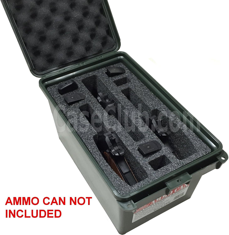 Case Club 3 Pistol & 6 Magazine Holder Large AC-11 MTM Ammo Can Foam (Pre-Cut, Closed Cell, Military Grade Foam) 81a5rGgKf2L