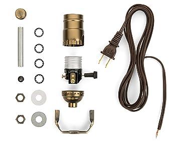 Lamp Base Socket Kit - Electrical Wiring Set for Making, Repairing ...