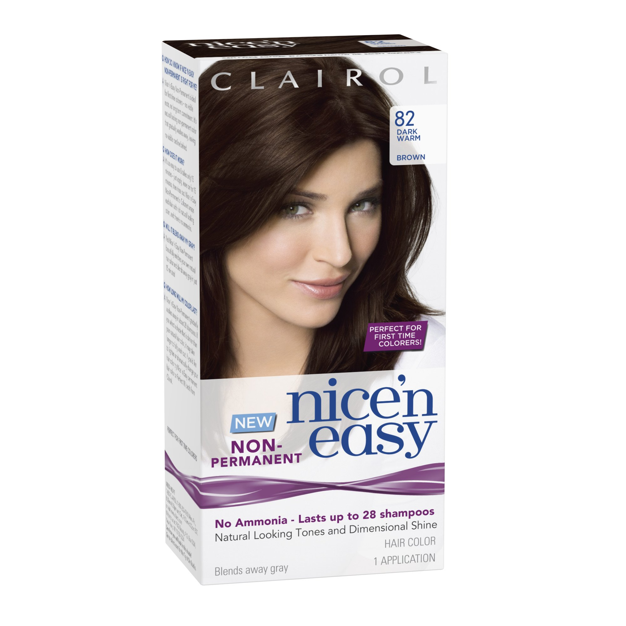 Amazon.com : Clairol Nice N Easy NonPermanent Hair Color 815r Deep Mahogany Auburn 1 Kit